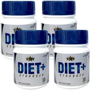 Diet + Stronger 30 cáps - kit 4 potes Diet + Stronger