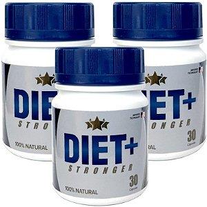Diet + Stronger 30 cáps - kit 3 potes Diet + Stronger