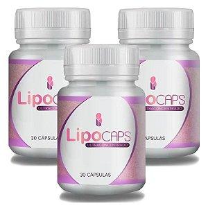 LipoCaps 30 Cáps - Kit 3 potes LipoCaps