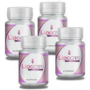 LipoCaps 30 Cáps - Kit 4 potes