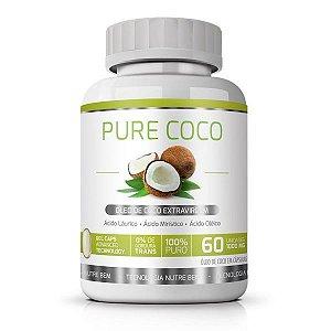 Pure Coco 60 cáps - óleo de coco extravirgem