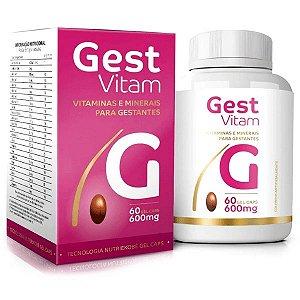 Gest Vitam 60 cáps - Vitamínico para Gestantes