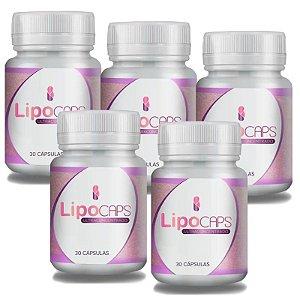 LipoCaps 30 Cáps - Kit 5 potes LipoCaps