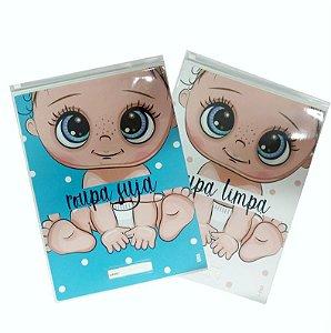 kit creche (sujo e limpo) - Baby Menino