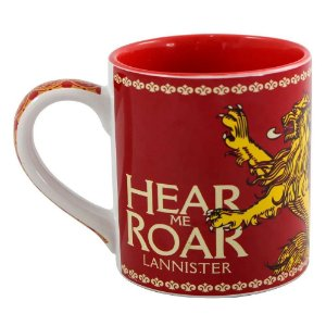 Caneca Game of Thrones Lannister Vermelha 450ml