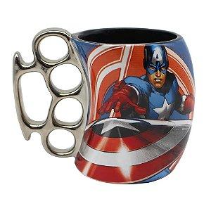 Caneca Marvel Soco Inglês Capitão América 350ml