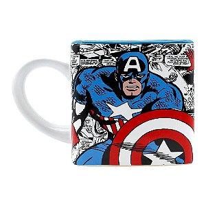 Caneca Cubo Marvel Capitão América 300ml