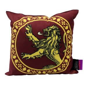 Almofada Fibra Veludo 25x25 Game of Thrones Lannister