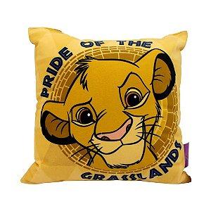 Almofada Fibra Veludo 25x25 Rei Leão Simba