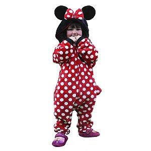 Macacão Kigurumi Infantil Minnie