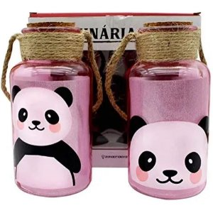 Conjunto c/ 2 Luminárias Pote Panda