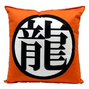 Almofada Fibra Veludo 25x25 Dragon Ball Símbolo