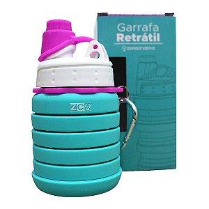 Garrafa Retrátil Azul Tiffany 500ml