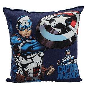 Almofada Fibra Veludo 25x25 Marvel Capitão América