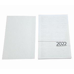 Miolo de Agenda 2022 Refilado 1 dia útil por Página | ref: MA22C