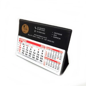Calendário de Mesa em PVC ( milheiro ), com logo