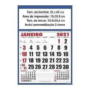 Calendário de Parede Folhinha Comercial 46,5 x 32 cm Com Vareta