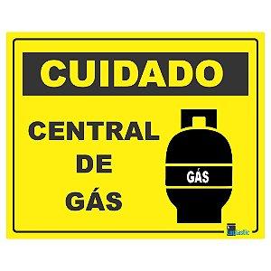 Placa Cuidado central de gás 20x25 cm