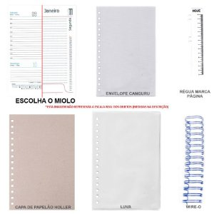 Kit de Agenda 2021 Para Scrapbook Com Holler, Luva & Wire-o