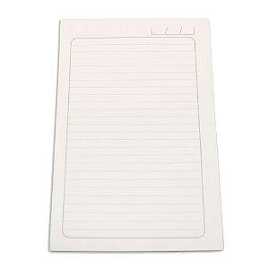 Miolo de Caderno Pautado Pequeno 14x21 cm 100 folhas