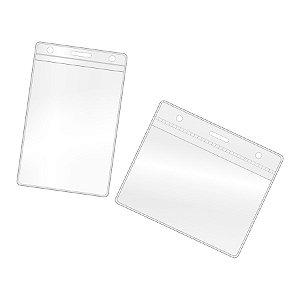 Porta Crachá 7x10 cm Vertical ou Horizontal Pacote de 100 un