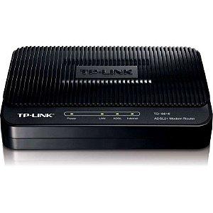Modem Roteador ADSL2+ TP-Link - TD-8816