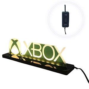 Luminária de Acrílico Led Xbox com Logo 25cm