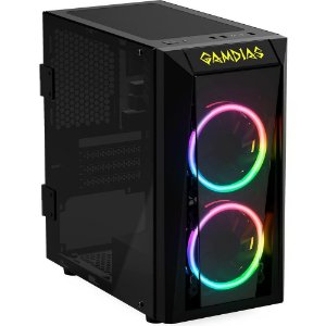 Gabinete Gamer Gamdias Talos E1 RGB Preto Com Fans