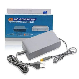 Fonte 100v-240v Nintendo Wii U - Ac Adaptador Cinza