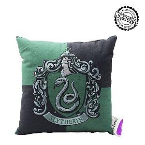 Almofada Fibra Veludo 25x25 Sonserina Harry Potter