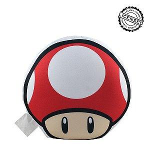 Almofada Formato Micropérolas Cogumelo Up - Nintendo