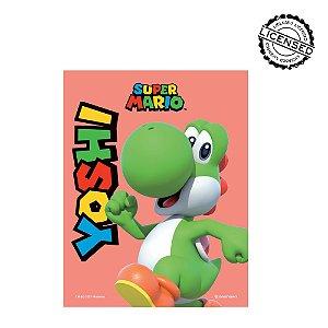 Quadro Metal Slim 26x20cm Yoshi - Nintendo