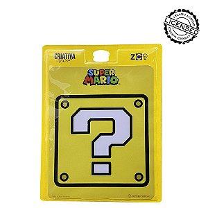 Quadro Metal Slim 26x20cm Mario Interrogação - Nintendo