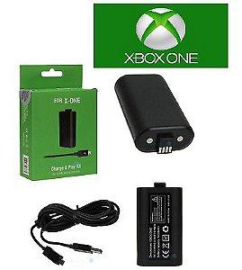 Kit Bateria Para Controle Xbox One Com Cabo e Carregador