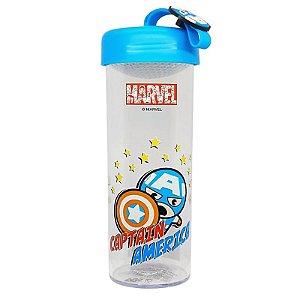 Garrafa Marvel C/Pingente Capitão América 450ml