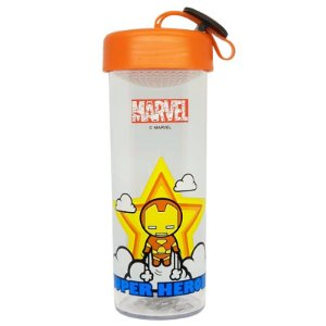 Garrafa Marvel C/Pingente Homem de Ferro 450ml