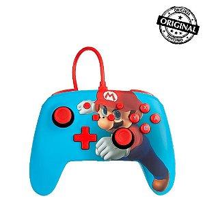 Controle Com Fio PowerA Nintendo Switch - Mario Punch