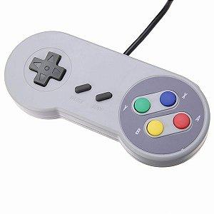 Controle Super Pad Retro para Nintendo Com Cabo USB