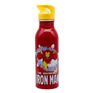 Garrafa De Alumínio 600ml Iron Man