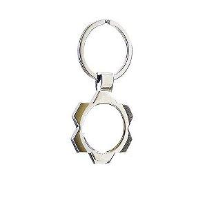 Chaveiro Engrenagem em Metal Cromado Para Sublimação - D003