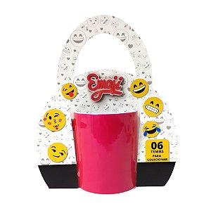Caixinha de Caneca Tipo Bolsa - Tema Emojis