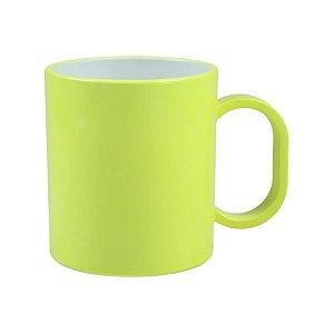 Caneca em Polímero Para Sublimação - Amarela Neon