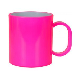 Caneca em Polímero Para Sublimação - Rosa Neon - 325ml - SFCT