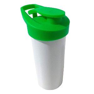 Squeeze de Polímero Branco com Tampa Verde - Para Sublimação