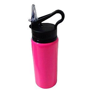 Squeeze de Metal Rosa com Bico Retrátil Para Sublimação - 600ml