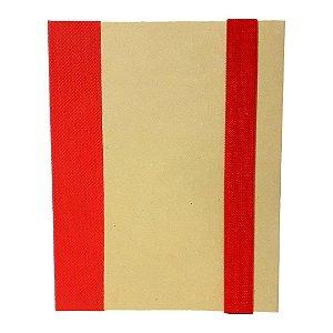 Bloco de Anotações com Capa Dura e Caneta - Vermelho