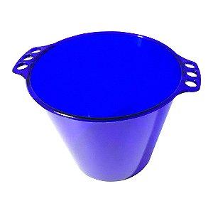Balde de Gelo de Acrílico Azul Neon Translúcido - 5L