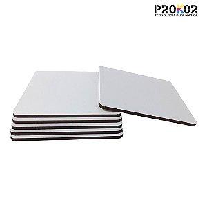 Porta Copo Quadrado em MDF Para Sublimação - Pacote com 6 Unidades