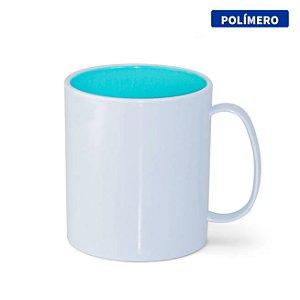 Caneca de Polímero com Interior Azul Bebê