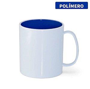 Caneca de Polímero com Interior Azul Royal